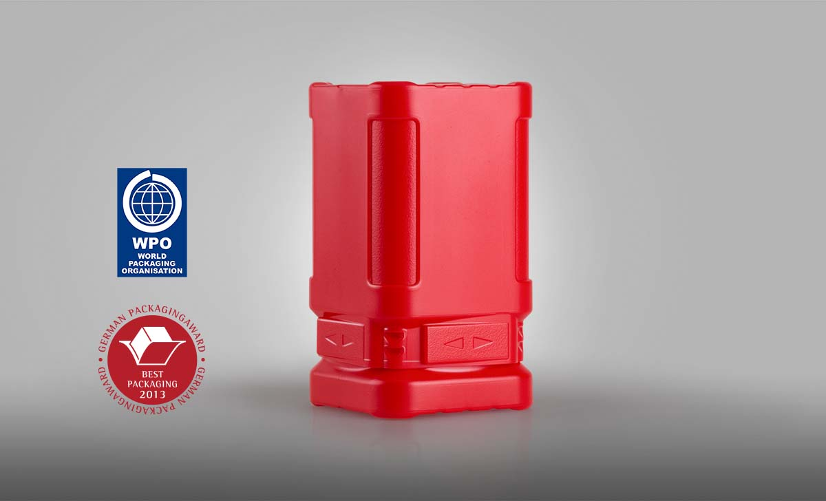 Our BlockPack won the German Packaging Award in 2013.